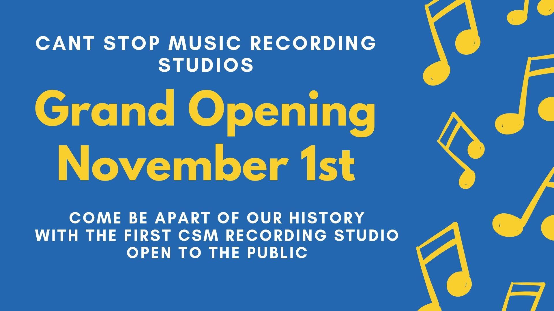 Cant Stop Music Recording Studios